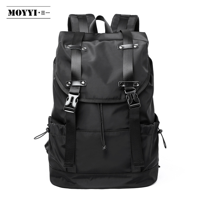 MOYYI  New Fashion Mens Backpack School Bag Mens travel Bags Large Capacity Travel Waterproof 14 15.6 inch Laptop Backpack