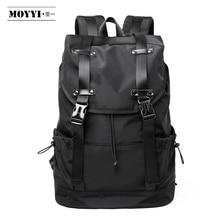 Moyyi新ファッション男性のバックパックスクールバッグ旅行バッグ大容量旅行防水14 15.6インチのラップトップバックパック