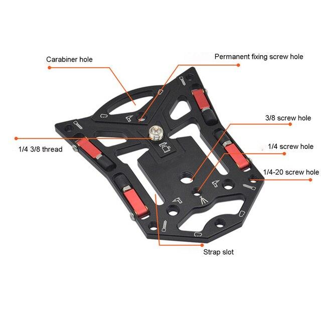 1 מחשב נייד מצלמה סוגר לgopro מצלמה שחרור מהיר יציב שטוח חצובה בסיס עבור טלפון SLR מצלמה צילום אבזרים