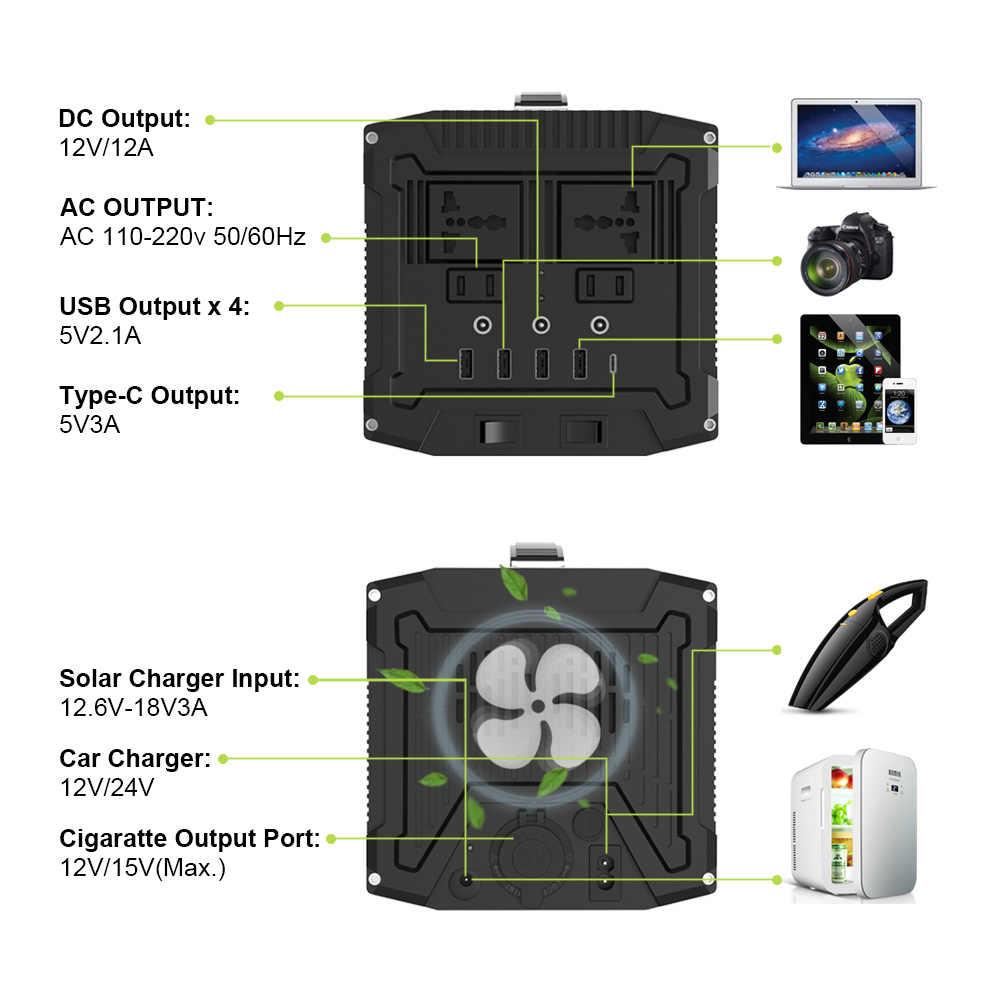 220 5v 電源銀行 78000mAh ポータブル発電機外部バッテリーステーション AC/DC/USB/タイプ C 複数の出力 Ups の電源バッテリー