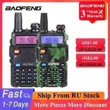 Baofeng UV-5R Walkie Talkie 5W VHF UHF Dual Band Two Way Radio Station Baofeng UV 5R Portable Transceiver for Hunting Ham Radios