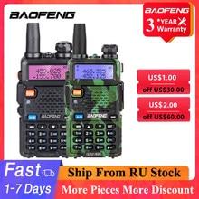 Baofeng UV-5R walkie talkie 5w vhf uhf dupla banda estação de rádio em dois sentidos baofeng uv 5r transceptor portátil para a caça rádios presunto