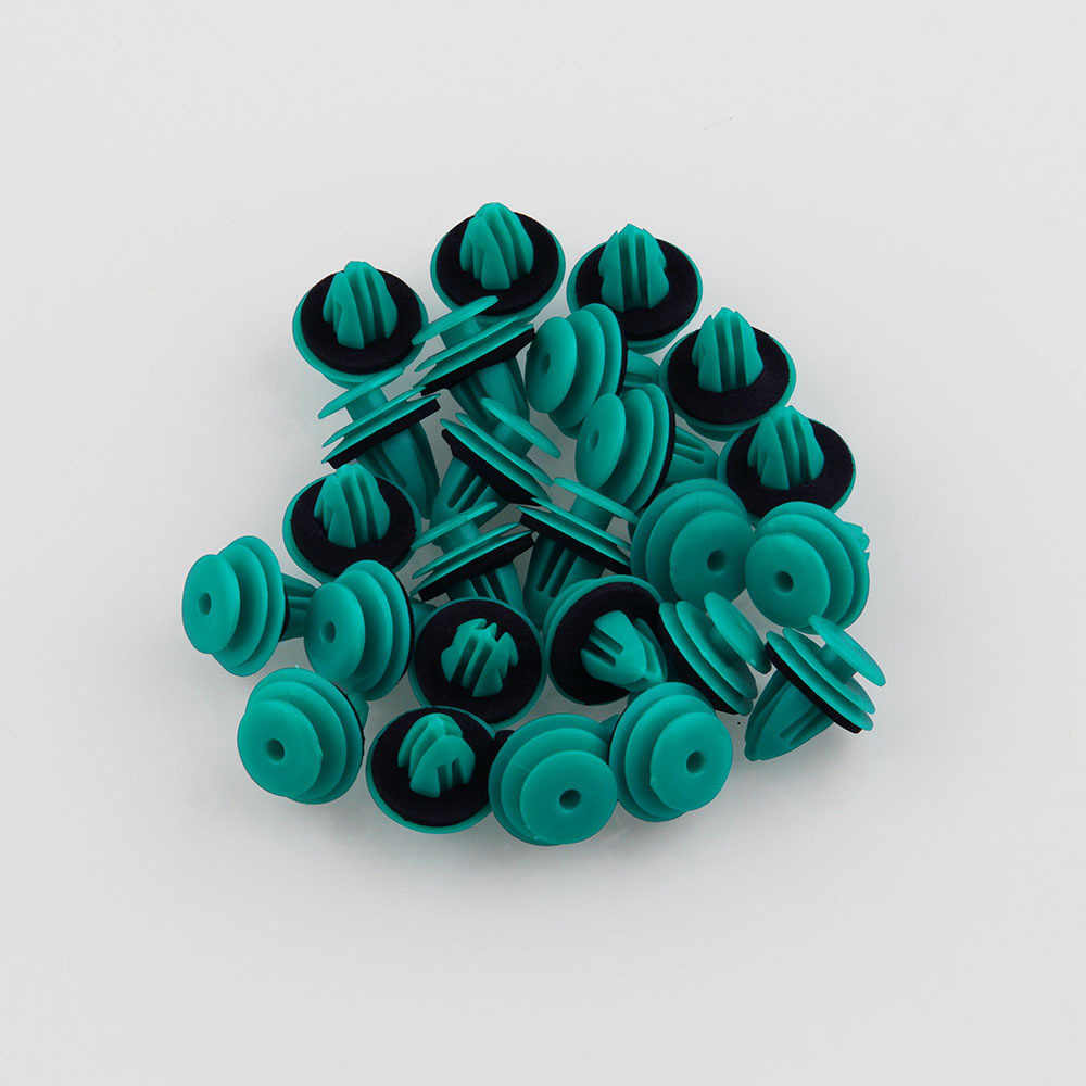 25pcs For Toyota 90467-10188 Teal Trim Panel Nylon Retainer Clips