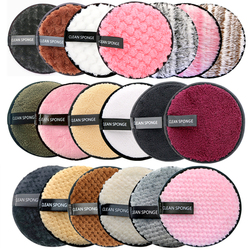Reusable Makeup Remover Pads Cotton Wipes Microfiber Make Up Removal Sponge Cotton Cleaning Pads Tool