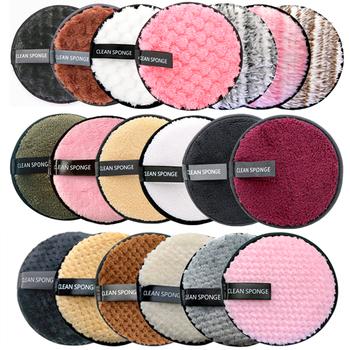Wielokrotnego użytku zmywacz do makijażu płatki kosmetyczne chusteczki z mikrofibry do usuwania gąbki waciki do czyszczenia narzędzia tanie i dobre opinie CN (pochodzenie) makeup Remover Demakijażu makeup sponge