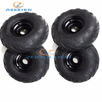 Genuine 145X70 6 145/70 6 4pcs Wheel TIRE ATV Go Cart Kart Mini Bike 50 90 110cc Engine Two Left Wheels + Two right Wheels