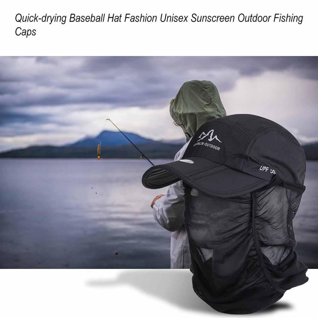 Cepat Kering Dilipat Topi Bisbol Fashion Unisex Tabir Surya Bisbol Cap Golf Kasual Perjalanan Olahraga Outdoor Memancing Topi
