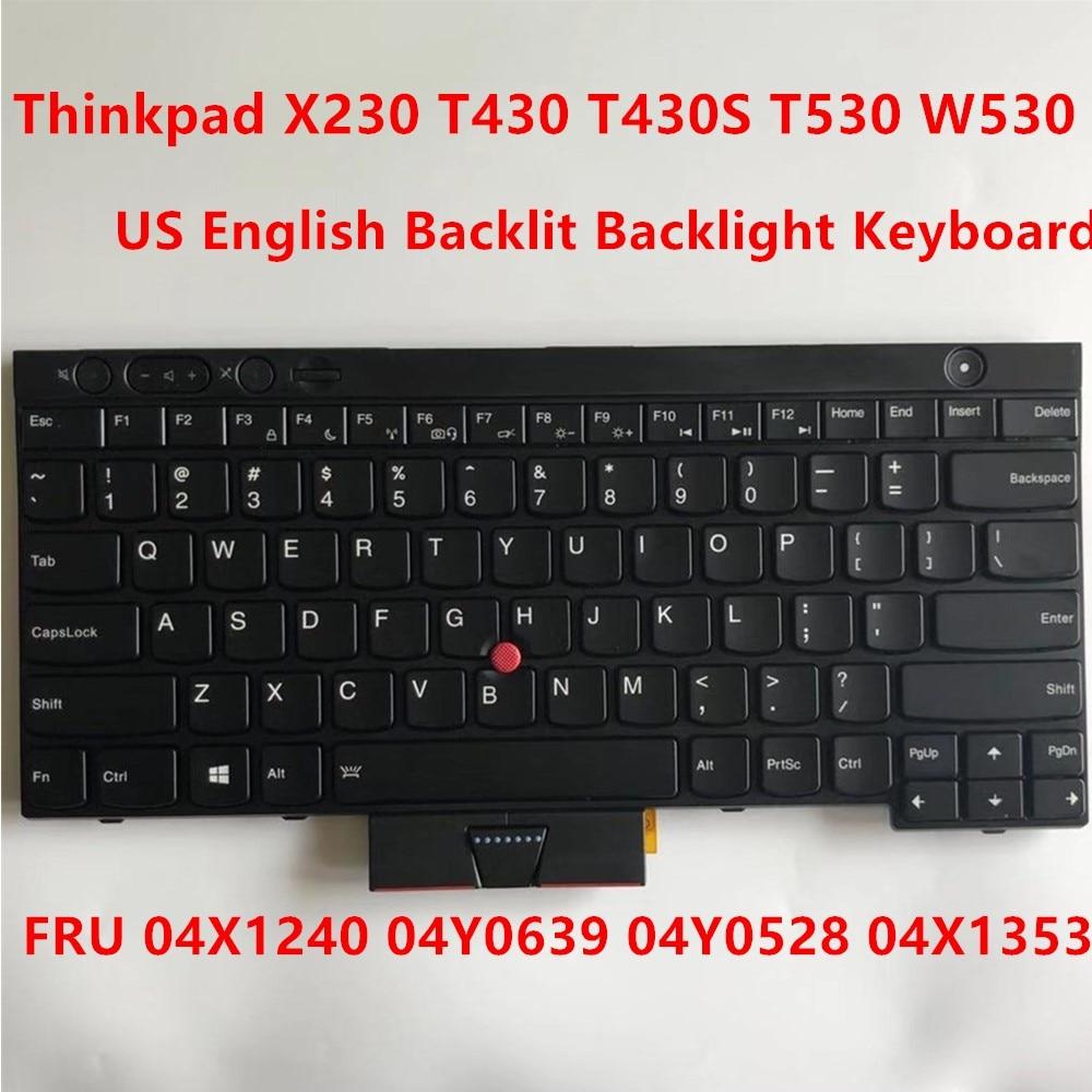 GUXl Keyboard US English Backlit for IBM Lenovo Thinkpad T530 T530i W530 04X1353 04X1240 0C02034 CS12-USE