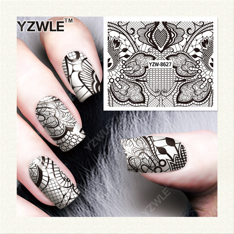 Yzw Nail Sticker Hot Selling Nail Ornament South Korea Manicure Stickers Exquisite Fashion Watermark Nail Sticker Yzw8627