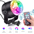 LED хрустальный вращающийся шар светильник s мини RGB Звук Активированный дискотечный светильник музыка рождество KTV Вечерние
