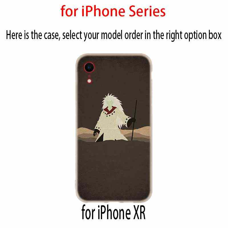 Coques de téléphone couverture souple pour iPhone X XS Max XR 6 6S 7 8 Plus 5 4S SE XI XIR 2019 XI MAX Anime Naruto Naruto étui d'anime minimaliste