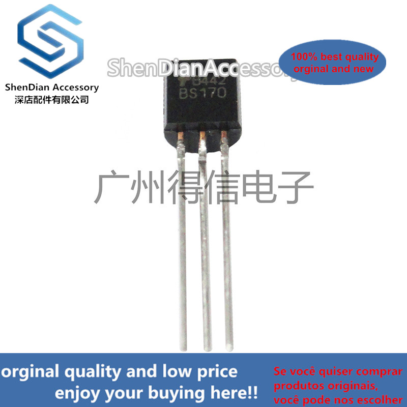 10pcs 100% New And Orginal BS170 170 TMOS FET Switching(N-Channel-Enhancement) TO-92 In Stock