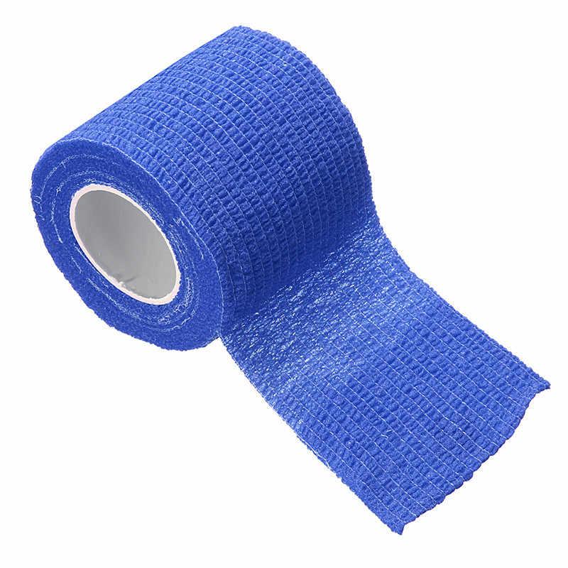 2.5cm * 4.5m bandaj ilk yardım kiti sağlık arıtma kendinden yapışkanlı elastik bandaj kas bandı parmak eklemleri Wrap