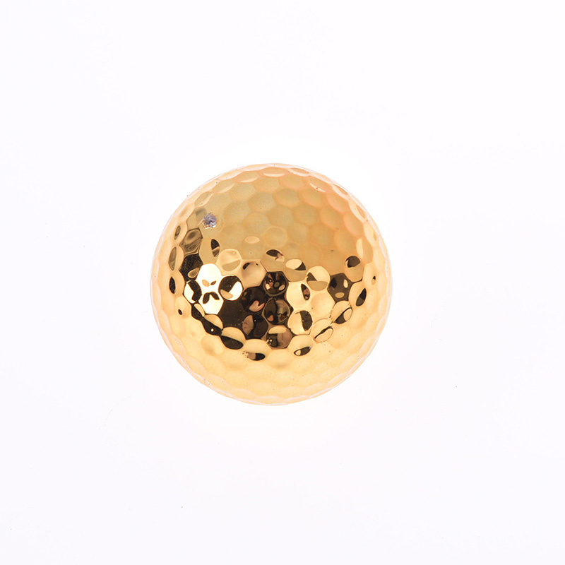 Unique Gold Golf Balls for Golfer Indoor Outdoor Swing Putter Training Practice Balls Gift for Father Friend Christmas