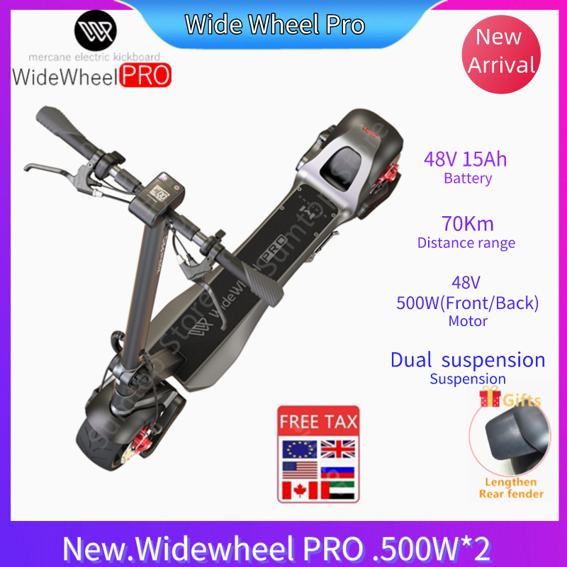 2020 Mercane WideWheel Pro 48V 500W/1000W Kickscooter Smart <font><b>Electric</b></font> <font><b>Scooter</b></font> Wide <font><b>Wheel</b></font> Dual <font><b>Motor</b></font> Disc Brake Skate Hoverboard image