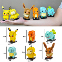 Legoing Pikachu Elves Figures Movie Anime Cartoon Cute Elf Pikachu New Building Blocks Kids Girls Toys For Boys Children Legoing(China)
