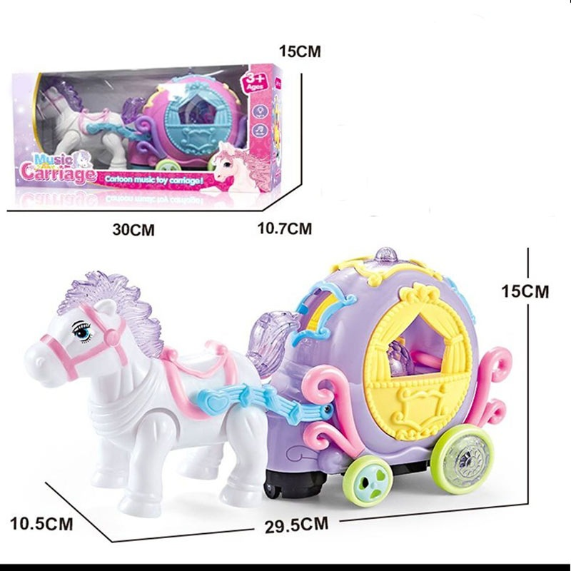 Cartoon Electric Universal Carriage Music Carriage Cartoon Animal Children'S Educational Toy Kindergarten Gift
