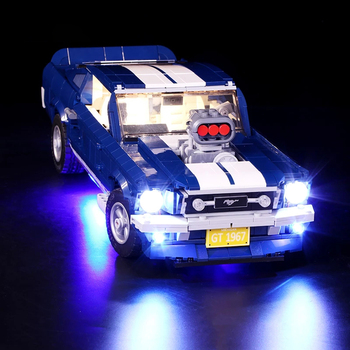 Led Light Compatible With 10265 A/B Ford-MustangING DIY lighting creative race Car Building Blocks Toys Gifts only light image