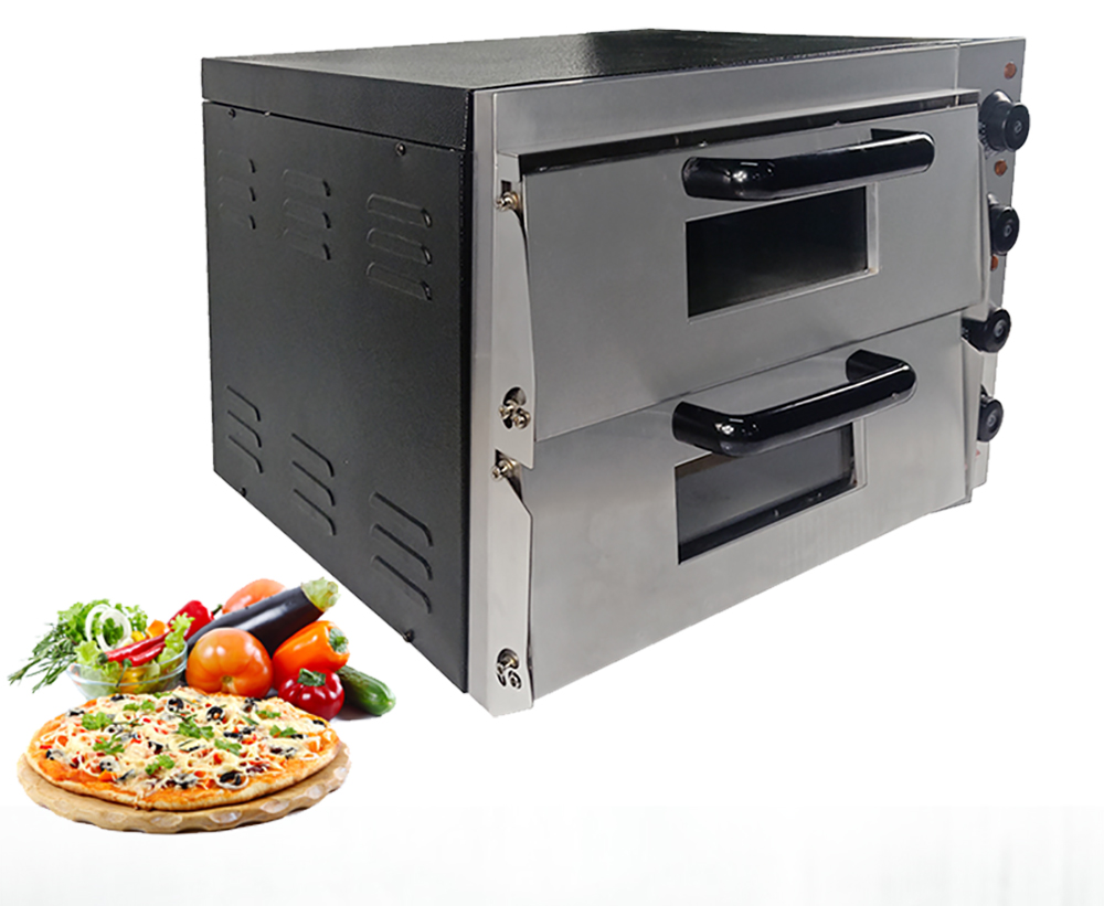 Electric Bakery Oven Double Pizza Oven Kitchen Use Stainless Steel 3000 W Power Appliance Oven