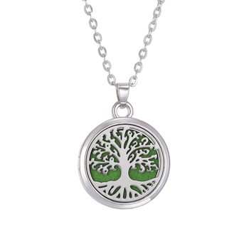 New Aromatherapy Necklace Diffuser Jewelry Tree Flower Lover Aroma Perfume Essential Oil Diffuser Necklace Box Locket Necklaces - 1