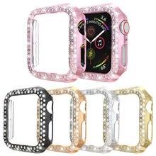 Duoteng Алмазный защитный чехол для apple watch 5 44 мм 40 с