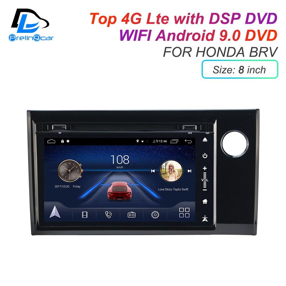 Écran tactile IPS son DSP Android 9.0 2 DIN 4g Lte radio pour HONDA BRV GPS DVD playe navigation stéréo