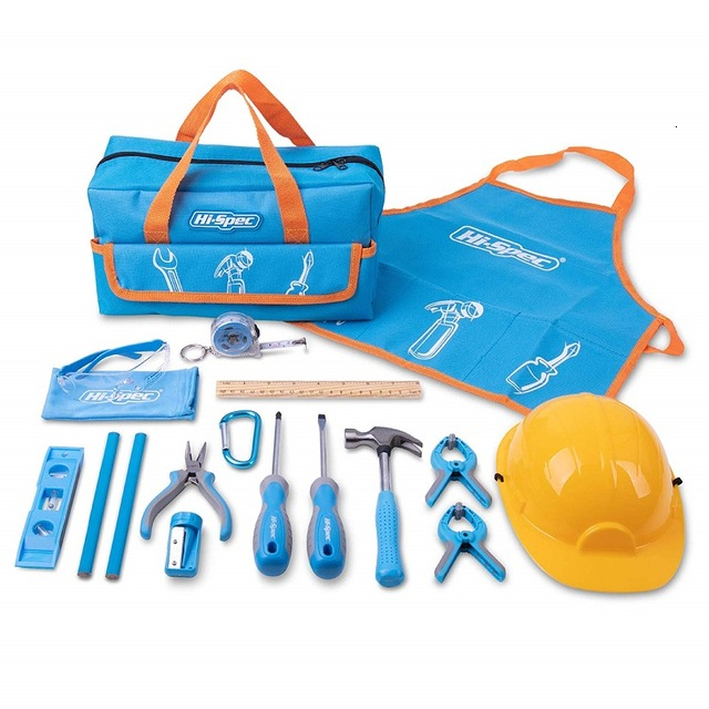Hi-Spec My First Tool Set Real Children Kids Tool Kit Bag Small Size DIY Hand Tool Set Toy Gift Tools For Kids Boys Girls