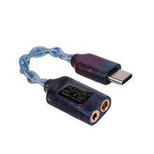 Tipo-c a 2.5mm 3.5mm conector porta dupla cphi pro amp alta fidelidade fone de ouvido cabo de áudio suporte 32bit 384khz para o computador do telefone android