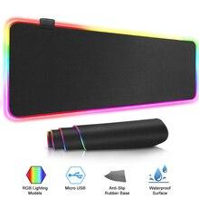 Игровой коврик для мыши, компьютерный коврик для мыши, большой RGB коврик для мыши, геймер, XXL, коврик для мыши, большой коврик для мыши, ПК, настольный игровой коврик с подсветкой