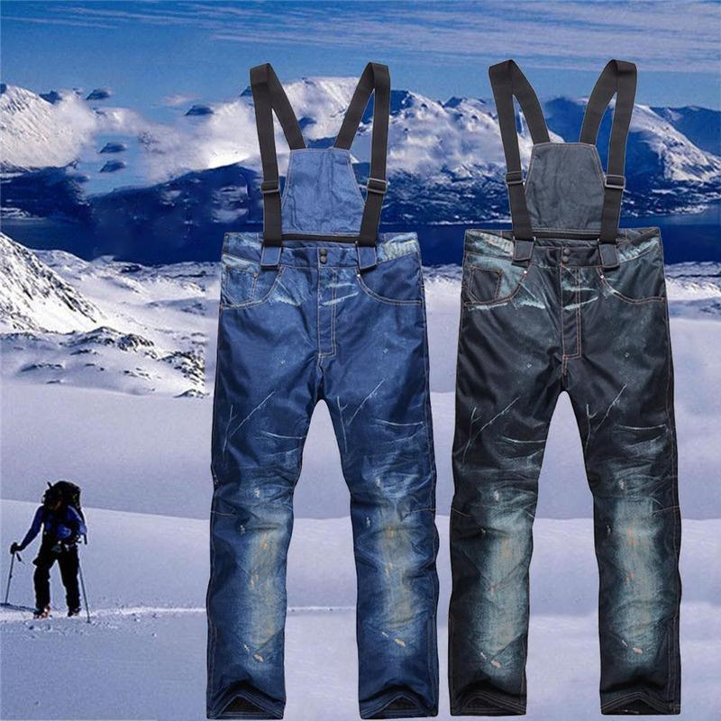 Ski Pants Men And Women Warm Windproof Snow Trousers Outdoor Waterproof Winter Ski Snowboard Pants Ski Clothes