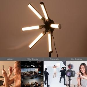 Image 5 - TL 900S דיגיטלי מילוי צילום אור כוכב בצורת מעגל אורות 6 PCS LED צינורות 60W CRI 97 3200K  5600K עבור וידאו חי איפור