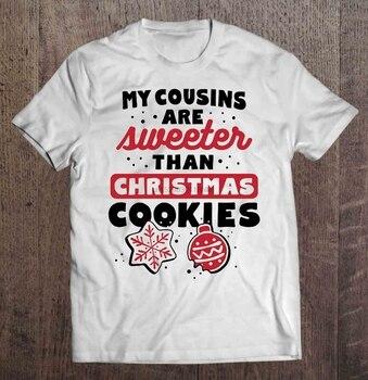 T-shirt męski moi kuzyni są słodsi niż świąteczne ciasteczka t-shirt damski