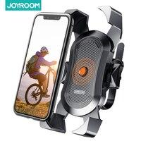 Joyroom-Soporte de teléfono para bicicleta, montaje de teléfono para motocicleta, bloqueo seguro y soporte para teléfono móvil de bicicleta para Manillar de bicicleta de montaña, compatible