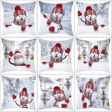 Рождественский диван-Подушка Чехол 3D Снеговик-подушка крышка Декоративные Чехлы# YC106