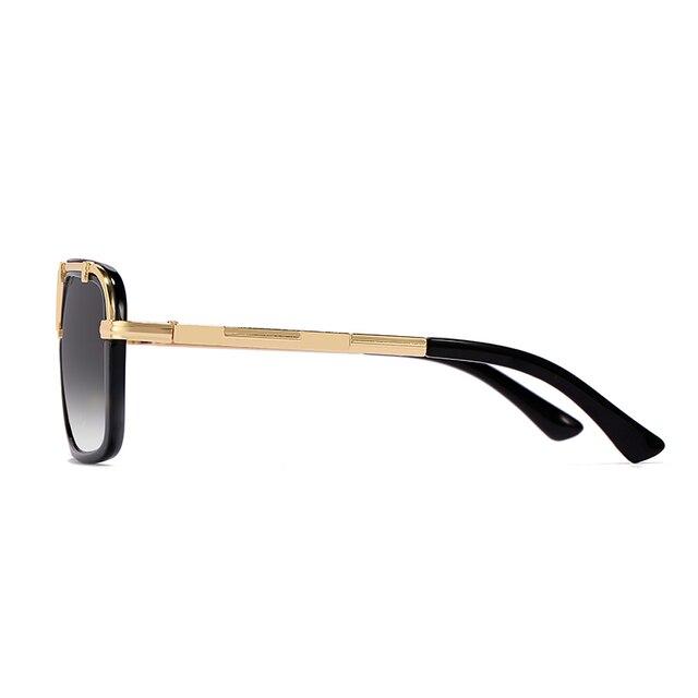 2020 Fashion Men Flat Top Sunglasses Classic Women Brand Designer Metal Square Sun Glasses UV400 Protection 3
