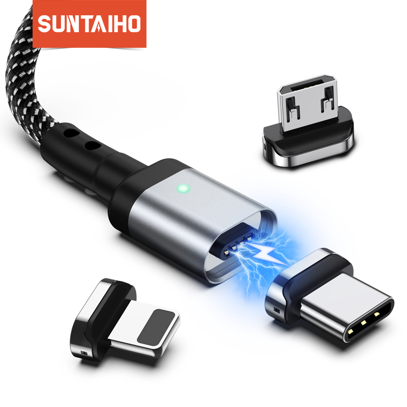 Suntaiho Magnetic Charger Micro USB C Cable Type C for Xiaomi PLAY note7 Fast Charging for Samsung S10 Phone iOS 12 For iphone|Mobile Phone Cables| |  - AliExpress