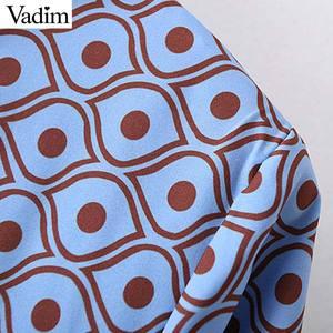 Image 4 - Vadim women fashion boho maxi dress V neck tassel tie long sleeve straight style casual ankle length dresses vestidos QD122