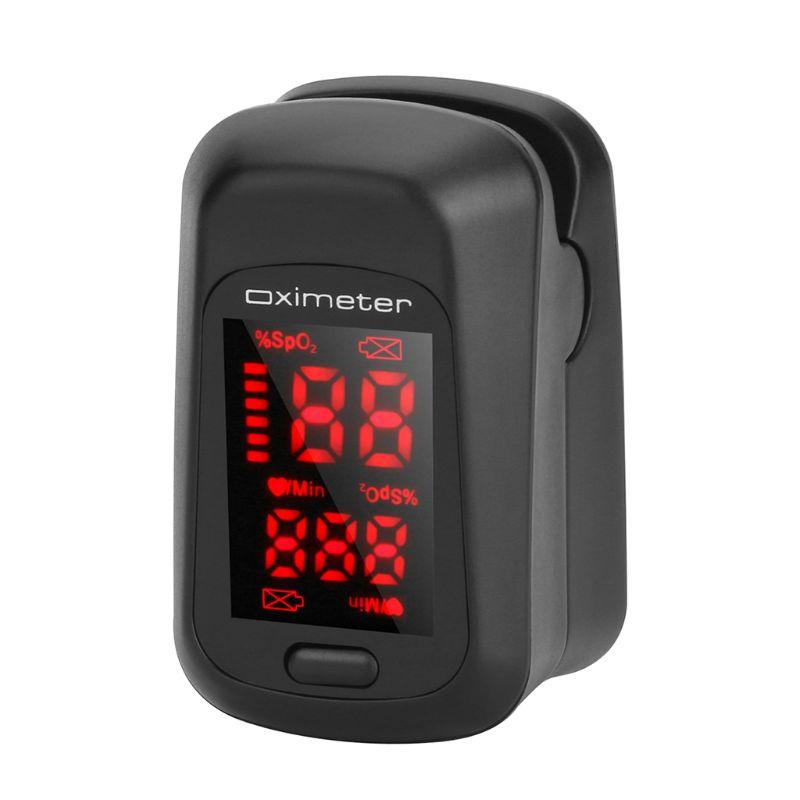 New Fingertip Pluse Oximeter Finger Pulse Ox Monitor Blood Oxygen Station Oximeter Blood Oxgen Meter Heart Rate Meter