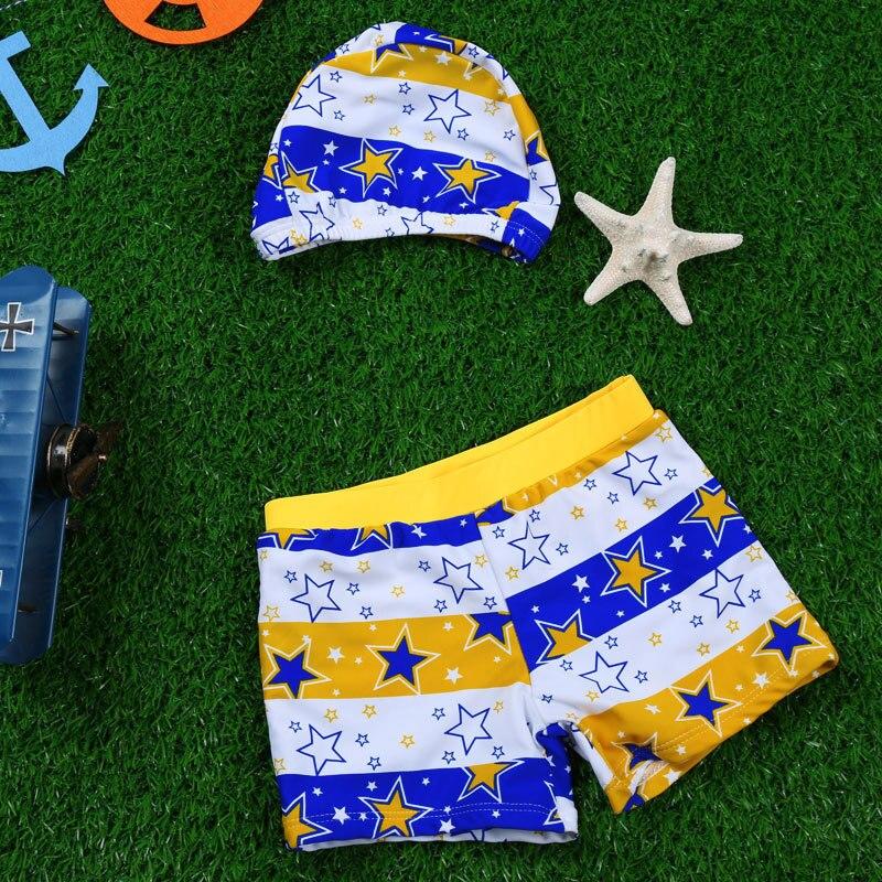 Place Of Origin Supply Of Goods South Korea Haiyishan KID'S Swimwear BOY'S Star Printed Children Swimming Trunks