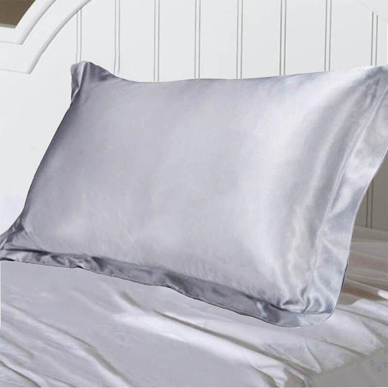 Сатиновая наволочка из чистого эмуляционного шелка, удобная наволочка для кровати, наволочка, гладкая наволочка