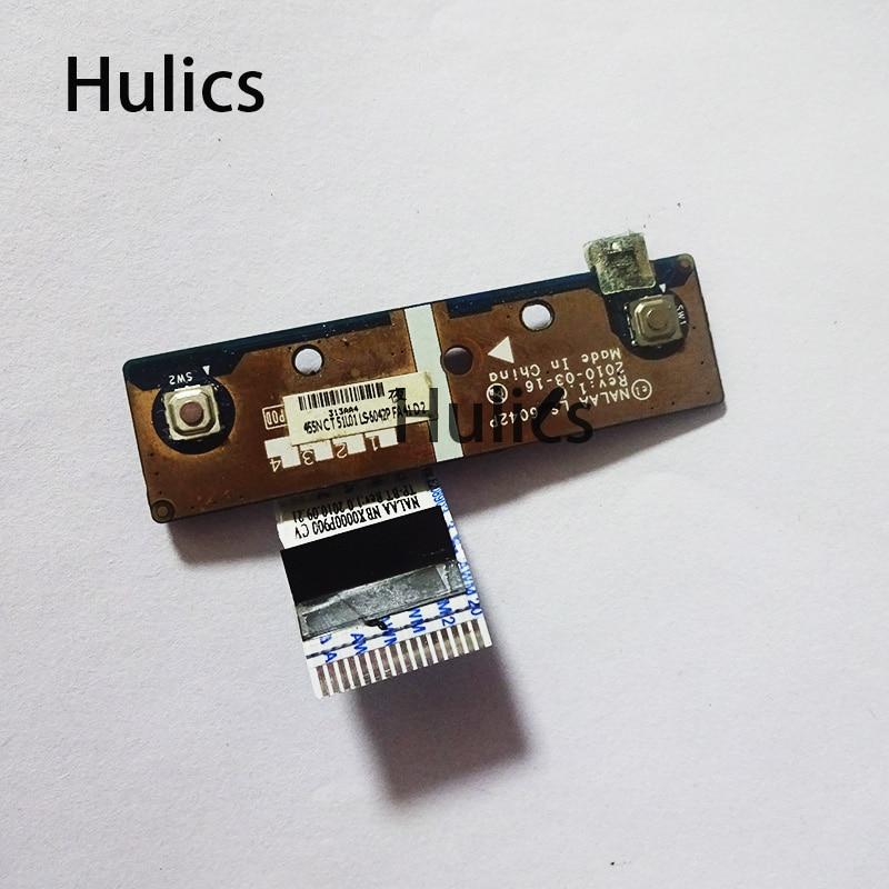 Huics original para toshiba satélite l670 l675 l675d l670d LS-6042P 6042p touchpad placa de botão
