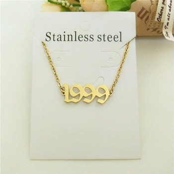 Anklet Chain For Women Custom Birthday Gift 1999 Old English Number Anklets Stainless Steel Jewelry Birth Year Enkelbanden 4