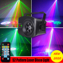52 Modes LED Disco Party Light Laser Projector Lamp Indoor RGB Stage Effect Lighting Show Music Remote Control KTV DJ Wedding aucd mini remote red green laser light mixed aurora rgb led stage lighting party disco show dj home wedding effect lighting