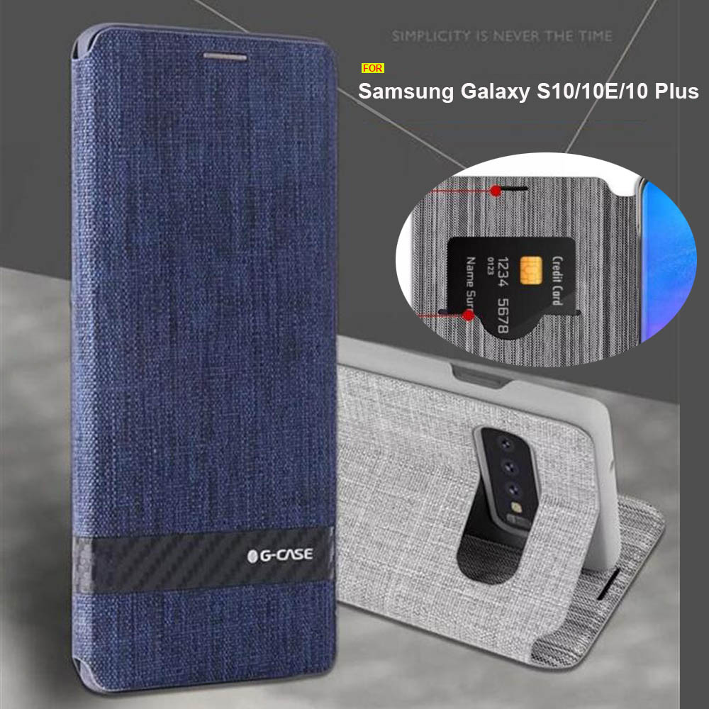 For <font><b>Samsung</b></font> Galaxy <font><b>S10</b></font> case Luxury Fabric business book <font><b>cover</b></font> for <font><b>Samsung</b></font> <font><b>S10</b></font> plus case <font><b>flip</b></font> <font><b>cover</b></font> for <font><b>Samsung</b></font> Galaxy S10e case image