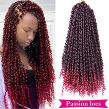 Mtmei włosy puszyste pasja wiosna Twist Locs włosy syntetyczne włosy plecione włosy brązowe Bug włosy plecione 16