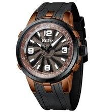 Men Watches Luxury Brand BIDEN Sport Quartz Watch Genuine Silicone Watchband Men Gifts Waterproof Analog Wristwatch Clock 0136 цена в Москве и Питере