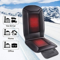 Car Seat Warmer and Cooler 2 in 1 Cushion Seat Cover with Heating and Ventilation Function and 3D Mesh PU Leather Portable Breat