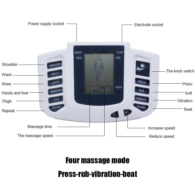 EMS электростимулятор мышц тела, массажер для похудение иглоукалывание, 16 подушечек, Цифровая терапия для спины, шеи, здоровья ног