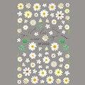 Элегантная Маргаритка, осенние листья, искусственный клей для задней панели, дизайнерская наклейка для ногтей, красота ногтей