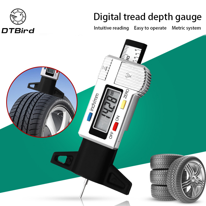 High-Precision Digital Tread Depth Gauge Tire Pressure Wear Detection Meter Measurer For Cars Trucks Tools Electronic Caliper